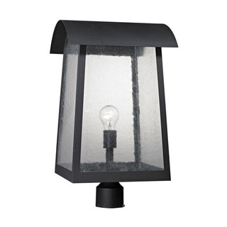 Cornerstone Matte Black Prince Street 1-light Exterior Post Lamp