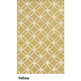 Rizzy Home Eden Harbor Hand-Tufted Yellow Geometric Blended Wool Area Rug (9' x 12')