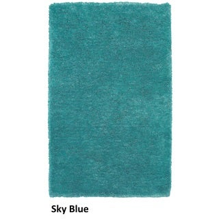 Rizzy Home Commons Hand-Tufted Blue Solid Area Rug (8' x 10')
