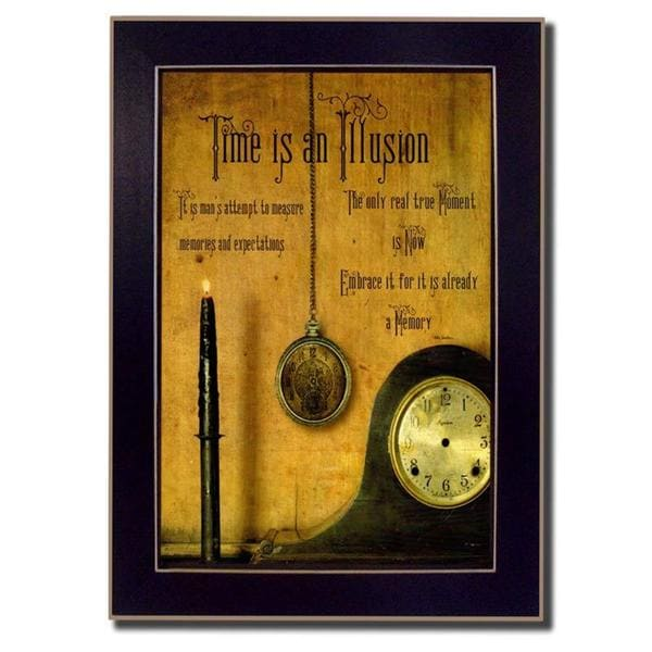 Time is an Illusion' Framed Art