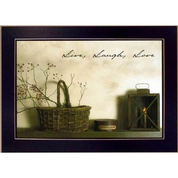 Live, Laugh and Love' Framed Art