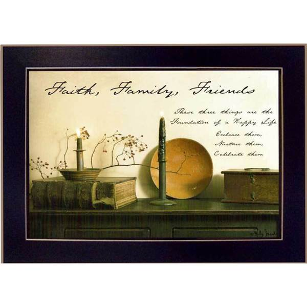 Faith, Family and Friends' Framed Art