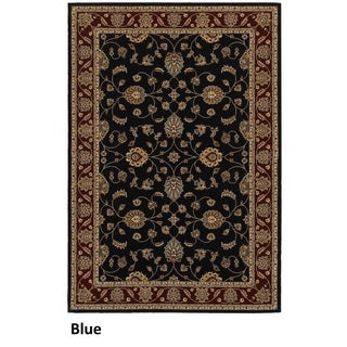 Rizzy Home Chateau Blue Border Area Rug (5'3 x 7'7)