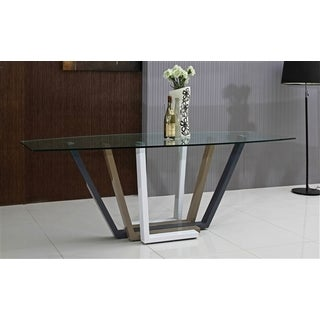Talenti Casa Roma Collection Glass Dining Table