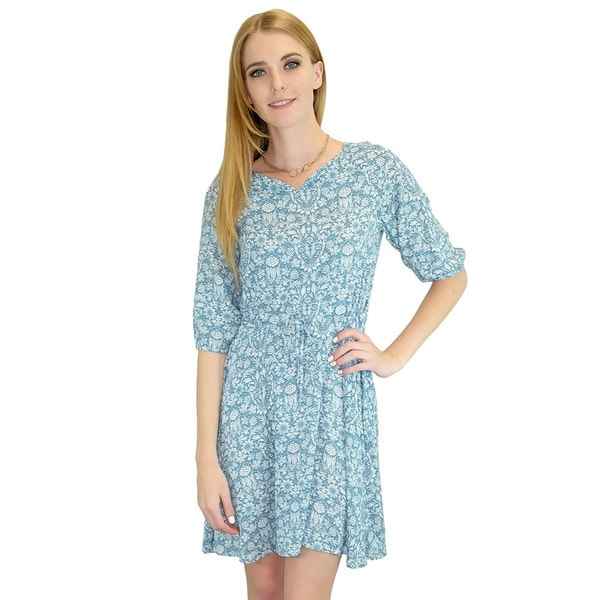 Relished Women's Teal Paisley Swing Dress