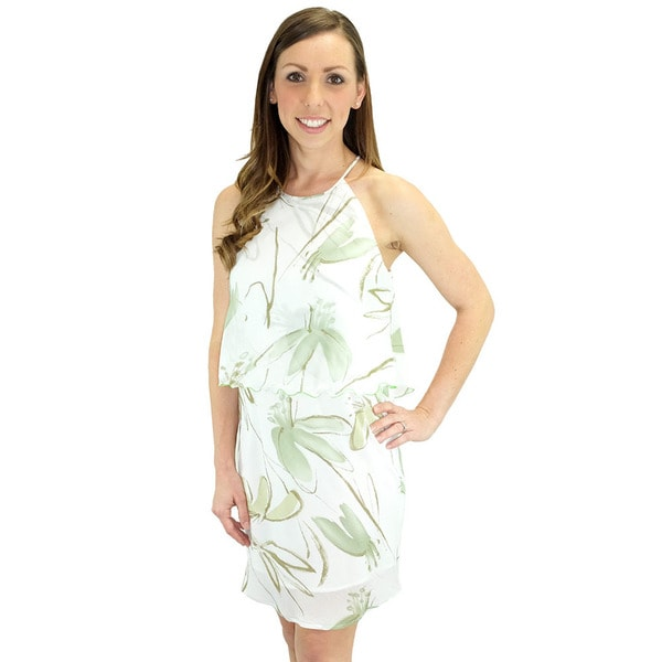 Relished Women's The Hamptons Tiered Chiffon Halter Dress