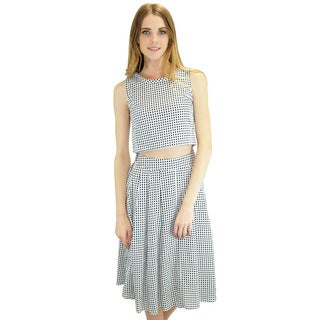 Relished Women's Taylor Crop and Midi Skirt Set