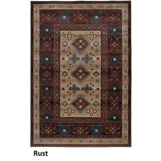 Rizzy Home Bellevue Rust Abstract Area Rug (6'7 x 9'6)