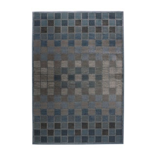 Rizzy Home Bellevue Blue Abstract Area Rug (6'7 x 9'6)