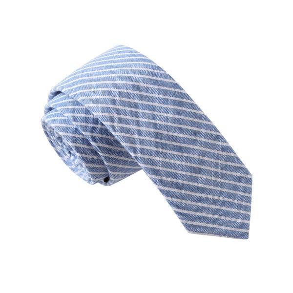 Knot Society Men's Green Plaid Skinny Tie
