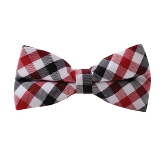 Knot Society Men's Red Plaid Bow Tie