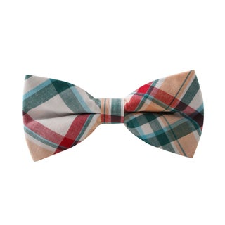Knot Society Men's Blue Plaid Bow Tie