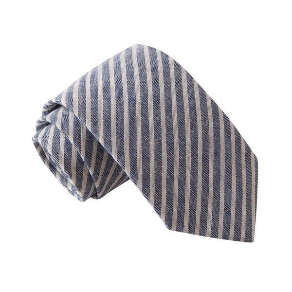 Knot Society Men's Blue Striped Tie