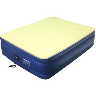 Airtek Flocked-top Full-size Air Mattress with 1-inch Memory Foam Mattress Topper