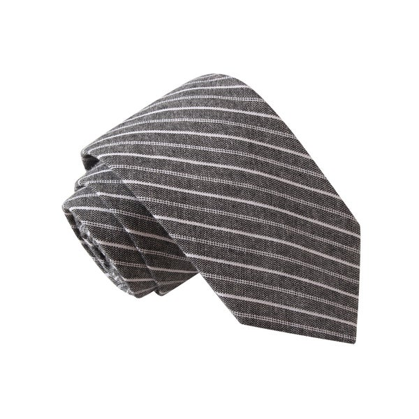 Knot Society Men's Black Striped Tie