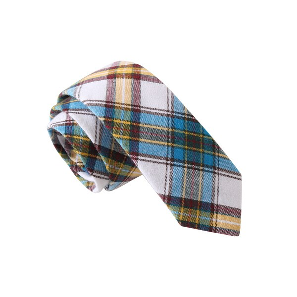 Knot Society Men's Blue Novelty Print Skinny Tie