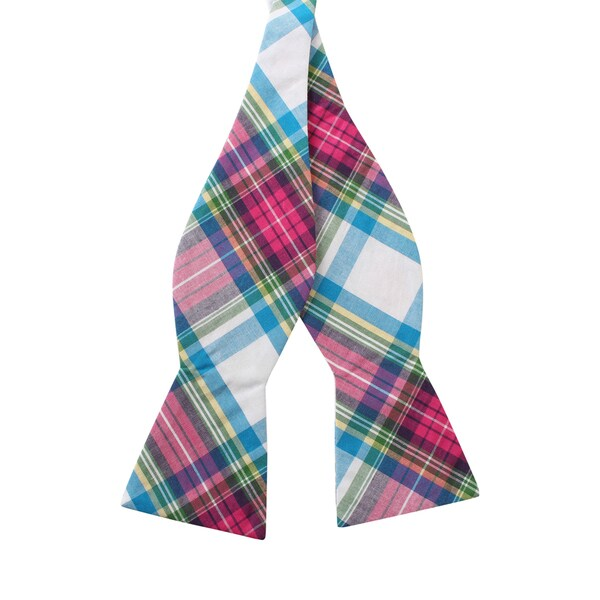 Knot Society Men's Multi Color Plaid Bow Tie