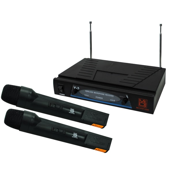 New Mr. DJ MDVHF3200 2-channel VHF Wireless Professional Microphone System