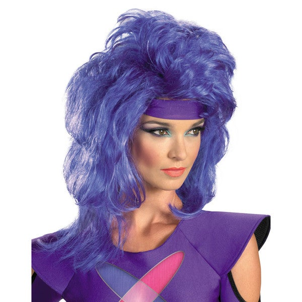 Jem and The Holograms Synergy Adult Purple Wig