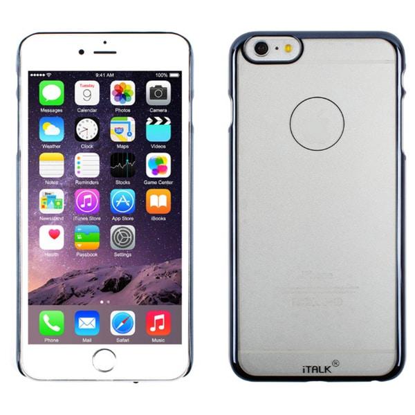 iTALK Metal Clear iPhone 6 Case, Blue Black