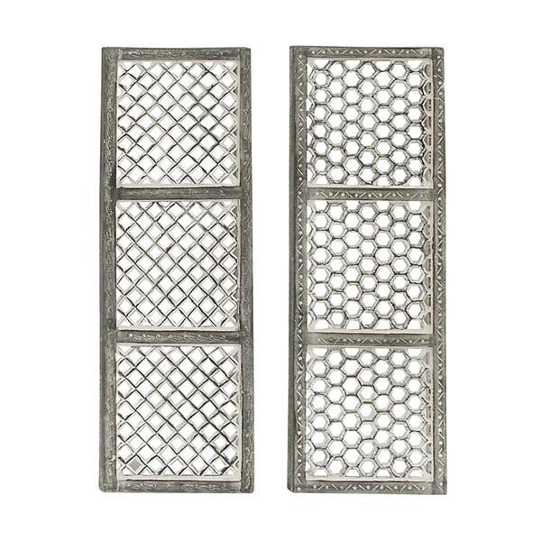 Wooden Metal Grey Wall Panel