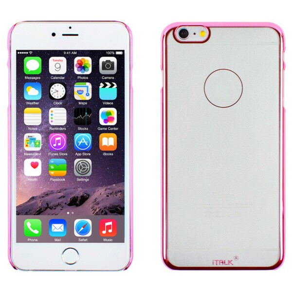 iTalk Metal Clear iPhone 6 Case, Pink