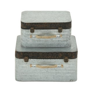 Decorative Metal Boxes (Set of 2)
