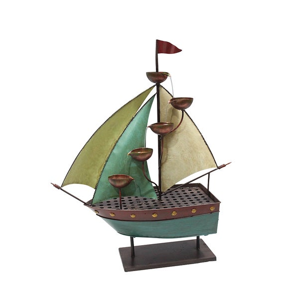 Sailor Ship with 5-leaf Cup Floor Fountain 15679454
