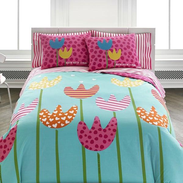 Agatha Cutie Tulips Comforter Set