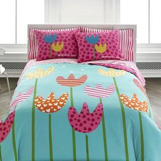Agatha Ruiz De La Prada Cutie Tulips 3-piece Comforter Set