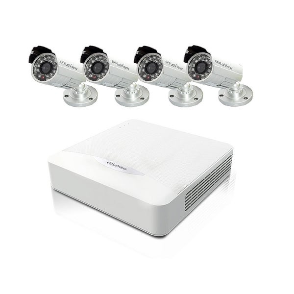 LaView 4-channel 960H 500GB DVR Security Surveillance System with Four 700TVL Weatherproof Cameras