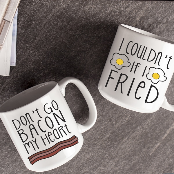 Bacon and Eggs Large Coffee Mugs (Set of 2)