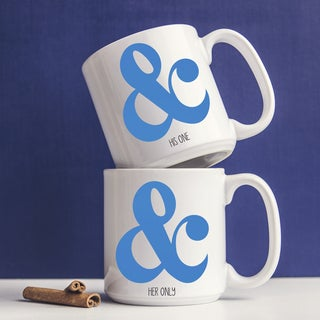 Ampersand Large Coffee Mugs (Set of 2)