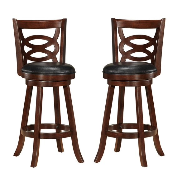 Walsh Espresso Brown 29 Inches Swivel Bar Stool With Pu