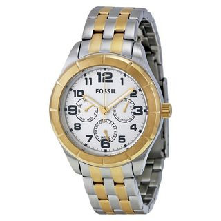 Fossil Unisex BQ1410 Chronograph Two-Tone Stainless Steel Watch