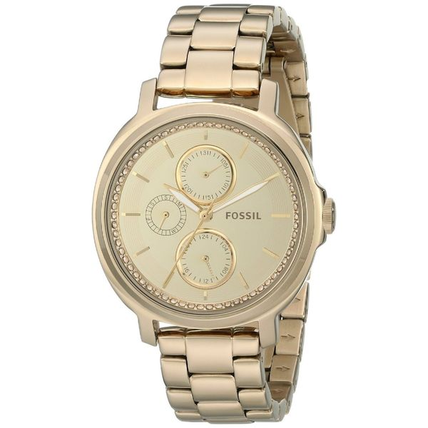 Fossil Women's ES3719 'Chelsey' Chronograph Crystal Gold-Tone Stainless Steel Watch