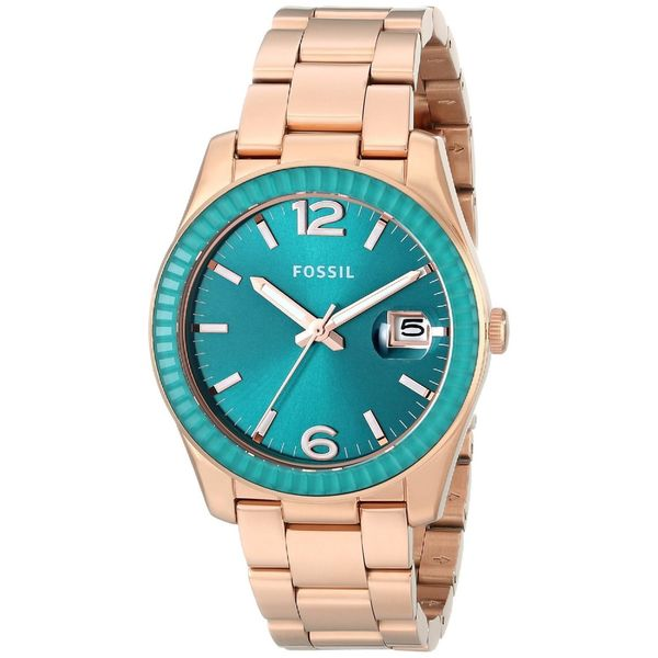 Fossil Women's ES3730 'Perfect Boyfriend' Rose-Tone Stainless Steel Watch