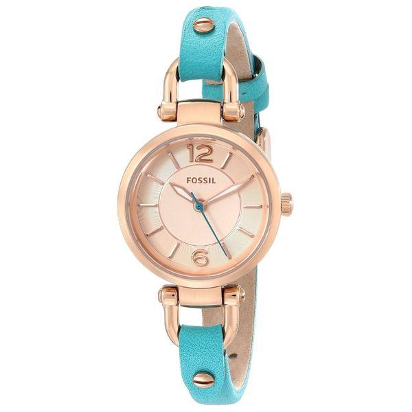 Fossil Women's ES3744 'Georgia' Blue Leather Watch