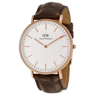 Daniel Wellington Men's 0111DW 'York' Brown Leather Watch