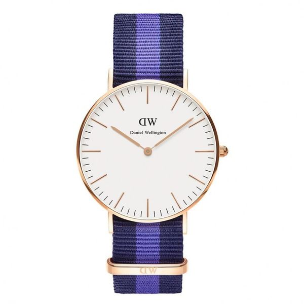 Daniel Wellington Women's 0504DW 'Swansea' Blue and Purple Nylon Watch
