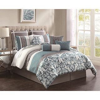 Adeline Embroidered 10-piece Comforter Set
