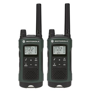 2PK T465 Rechargable 2-way Green Radio with Carry Case