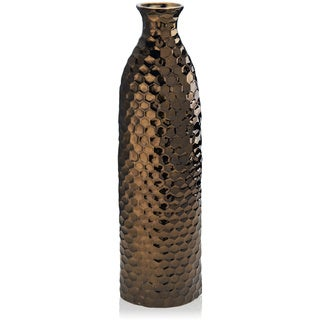 Elements Bronze Ceramic Honeycomb Vase