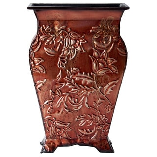 Elements Red Floral Embosseed Vase