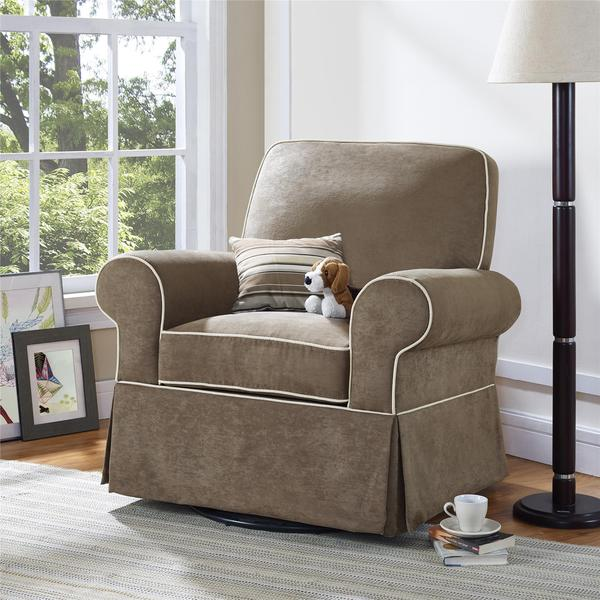Baby Relax Taline Taupe Swivel Glider