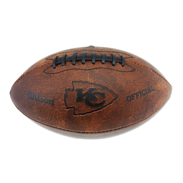 Wilson Kansas City Chiefs 11-inch Brown Leather Football
