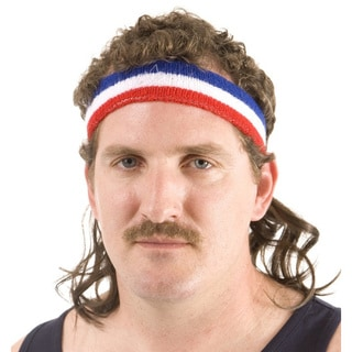 Brown Mullet Headband Combo Costume Accessory