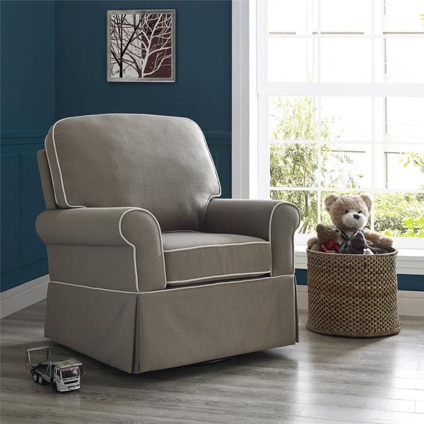 Baby Relax Remi Pewter Swivel Glider