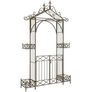 Safavieh Outdoor Living Destiny Rustic Blue Gated Arbor