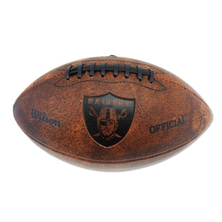 Wilson Oakland Raiders 11-inch Brown Leather Football